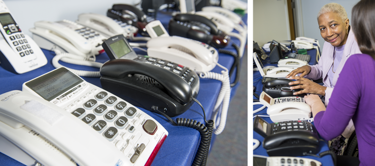Equipment available for assessment - click to learn how to find a telecommunications device that meeds your needs