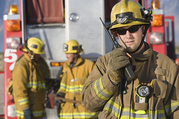 fireman with radio firstnet