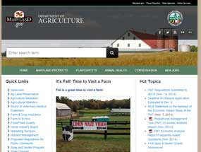 Maryland Department of Agriculture Home Page