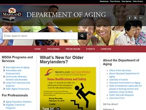 Maryland Department of Aging Home Page
