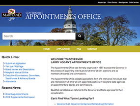 Governor's Appointments Office Home Page