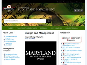 Department of Budget and Management Home Page