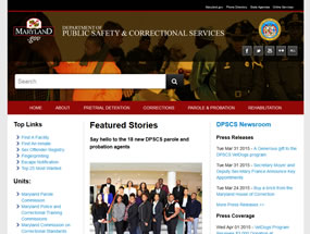 Department of Public Safety & Correctional Services Home Page