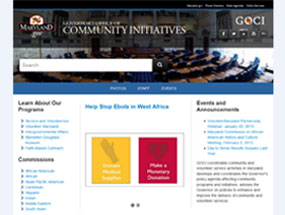 Governor's Office of Community Initiatives Home Page