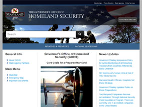 Governor's Office of Homeland Security Home Page