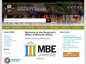 The Governor's Office of Small, Minority & Women Business Affairs Home Page