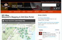Maryland's Mapping and GIS Data Portal Home Page