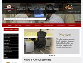 Maryland Correctional Enterprises Home Page