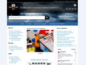 Maryland Emergency Management Agency Home Page