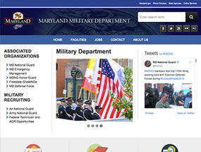 Image of the Military Dept. Home page