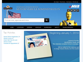 Maryland Motor Vehicle Administration Home Page