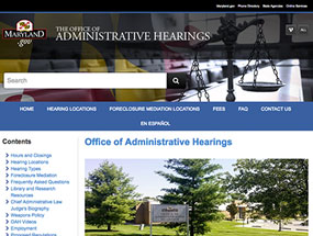 Office of Administrative Hearings Home Page