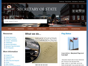 Secretary of State Home Page